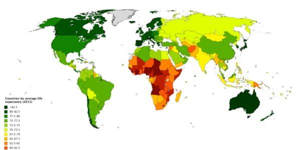 20 стран мира по продолжительности жизни