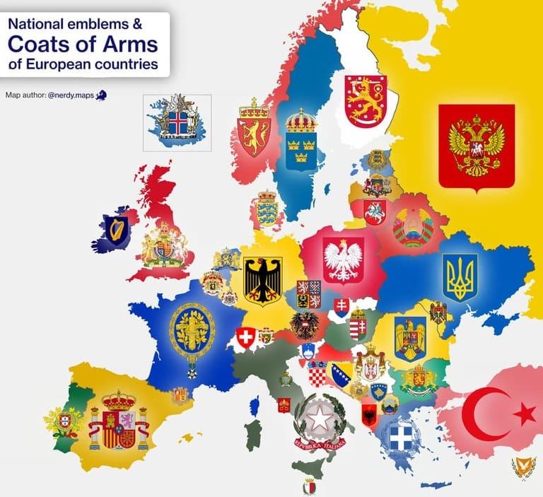 Гербы Европы