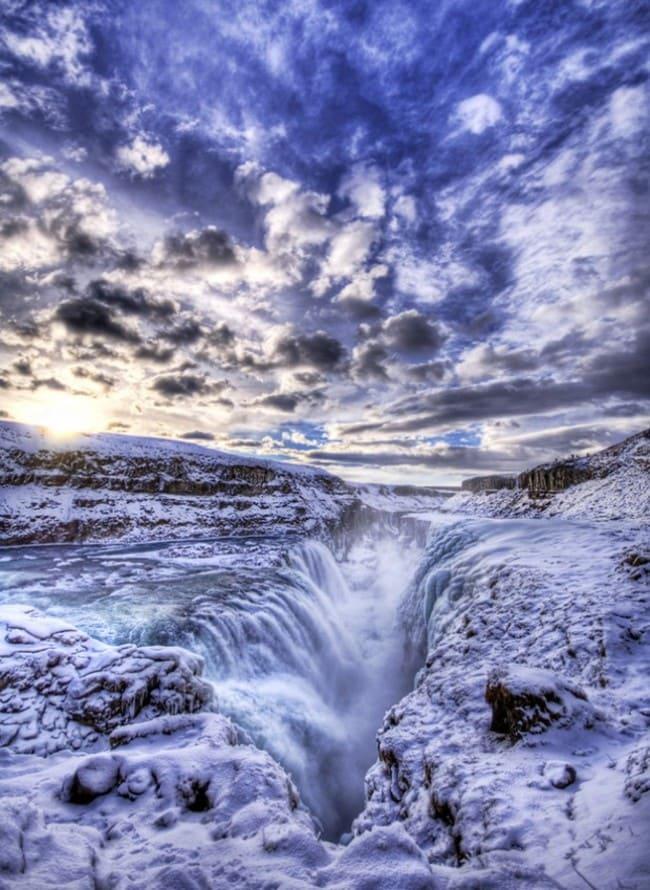 Гюдльфосс - Водопад в Исландии