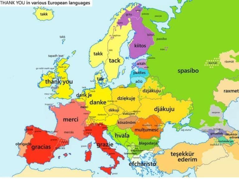Как сказать «спасибо» на разных языках