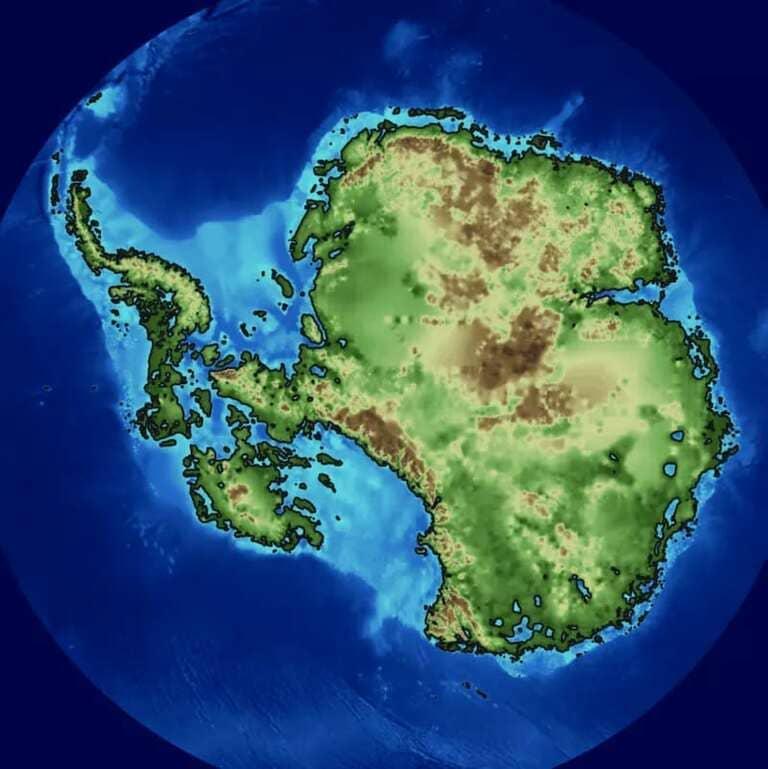 Как выглядит Антарктида подо льдами
