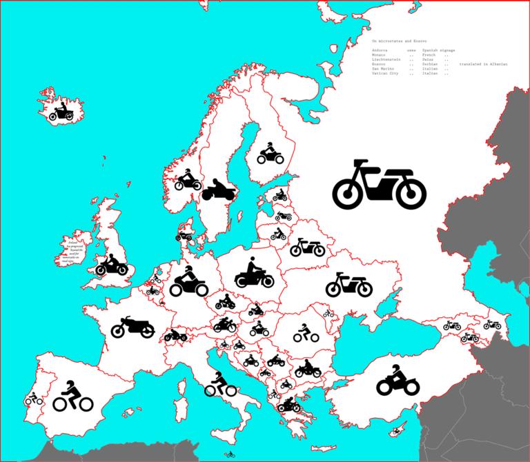 Как выглядит мотоциклист на дорожных знаках