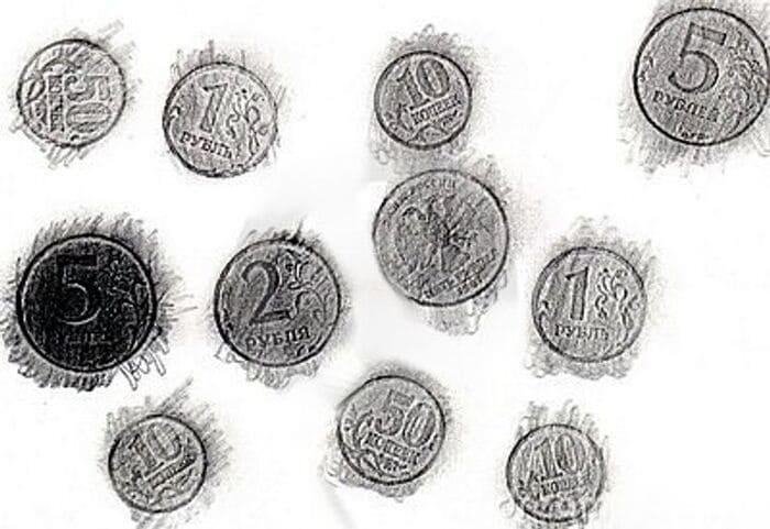 Карандашные монеты