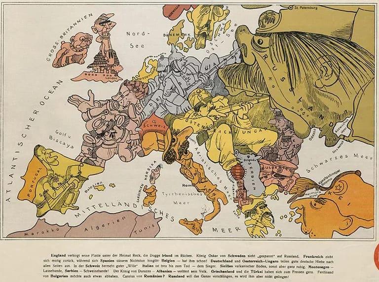Мультяшная карта Европы