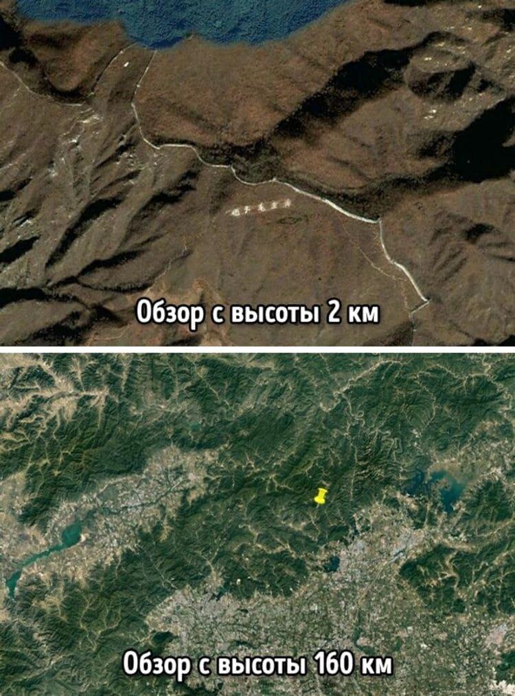 Великую Китайскую стену видно из космоса