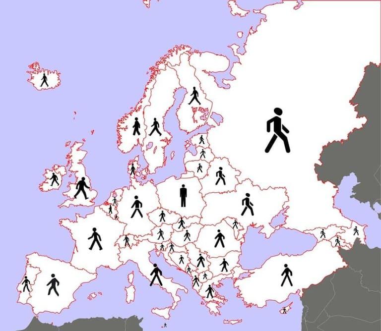 пешеходы на знаках разных стран