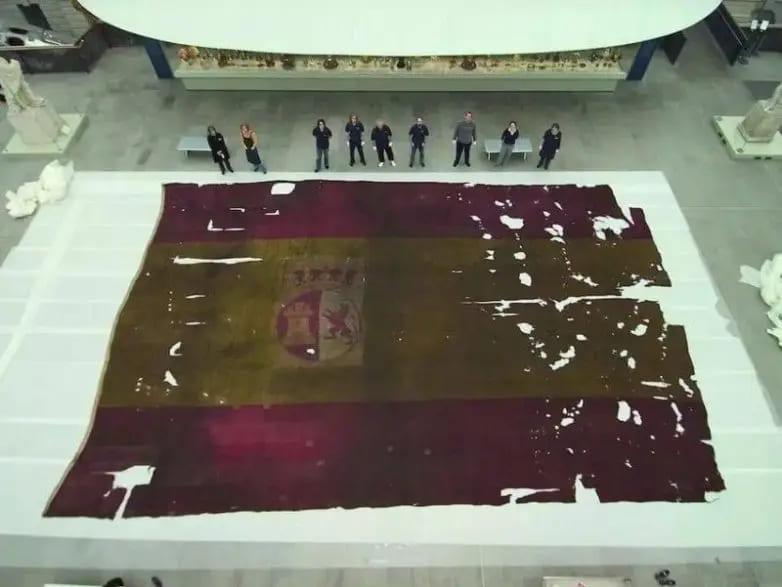 Размер флага испанского корабля
