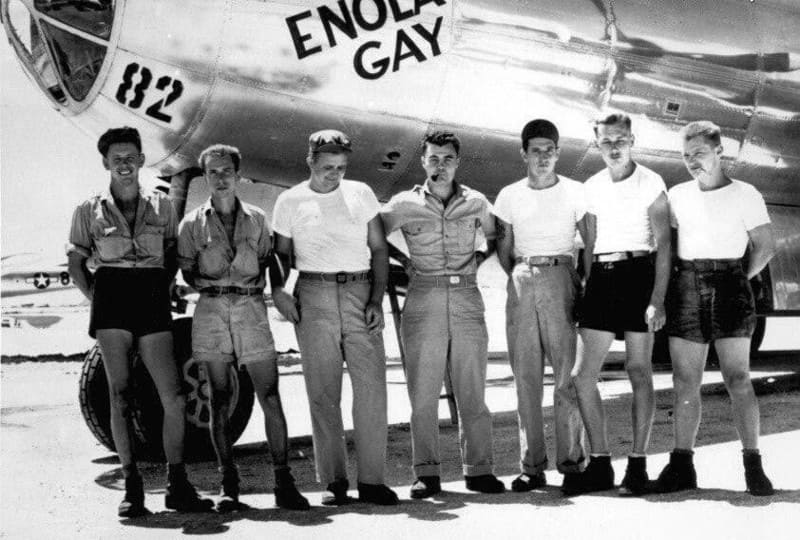 Члены экипажа американского бомбардировщика B-29