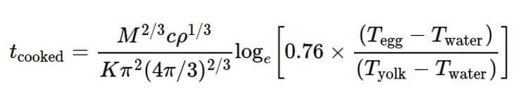 Формула для яиц всмятку