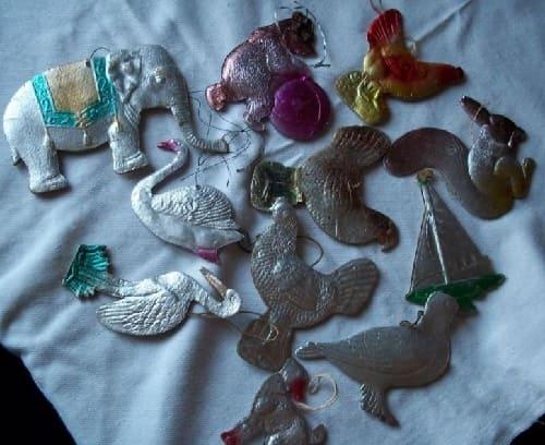 Картонные елочные игрушки 1960-х годов