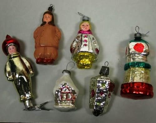Набор рождественских украшений 1960-х годов