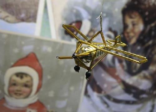 Самолет, елочные игрушки СССР