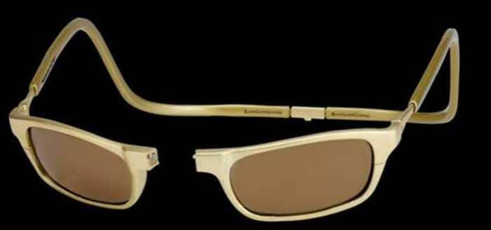 Золотые солнечные очки