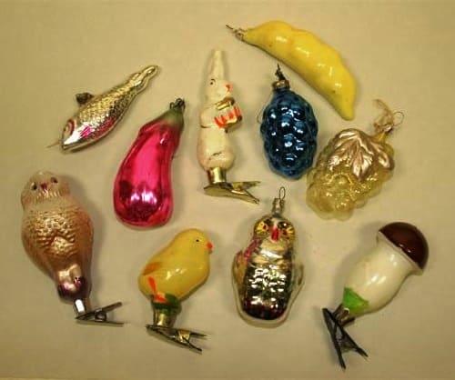 новогодние игрушки с застежками в виде прищепок