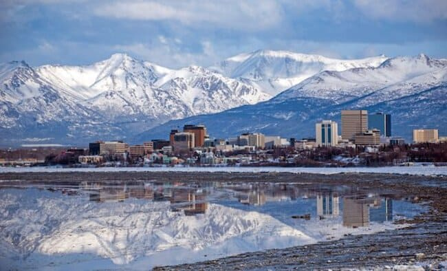 Анкоридж на Аляске