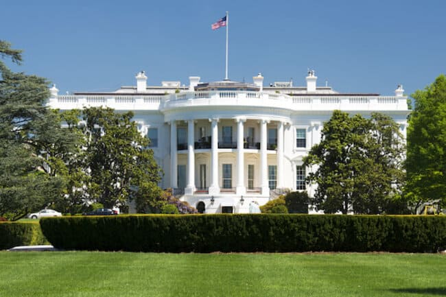 Белый дом в Вашингтоне, округ Колумбия