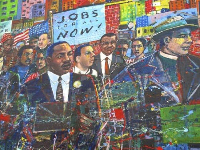 Фреска Мартина Лютера Кинга в Атланте