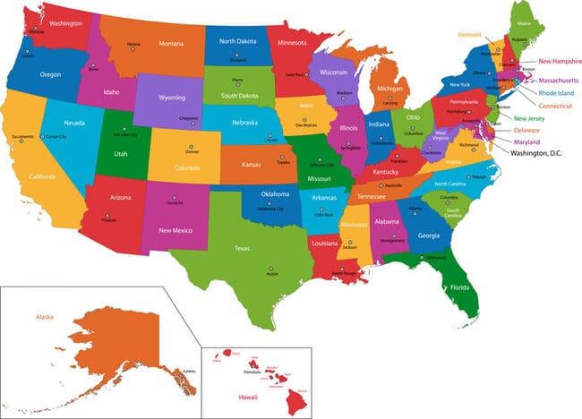 Соединенные Штаты Америки - 50 штатов