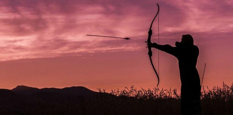 Вы можете заставить стрелу обогнуть объект, чтобы поразить цель
