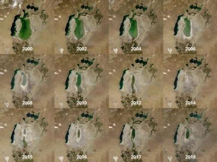 Изменение Аральского моря