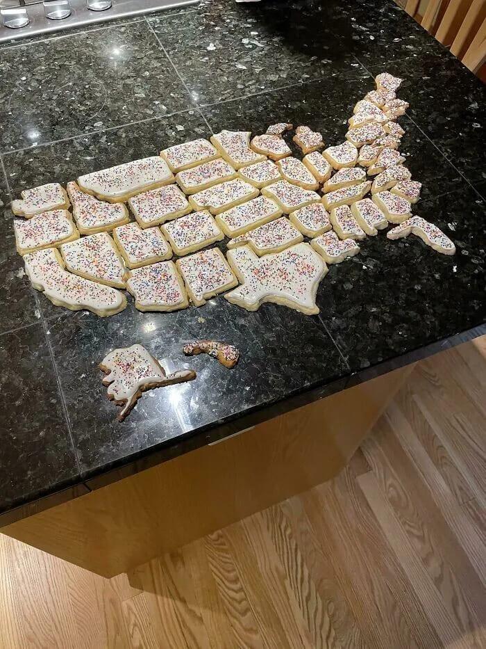 Карта США из печенек