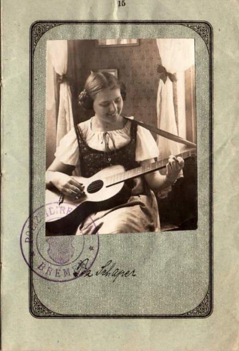 Немецкий паспорт 1921 г