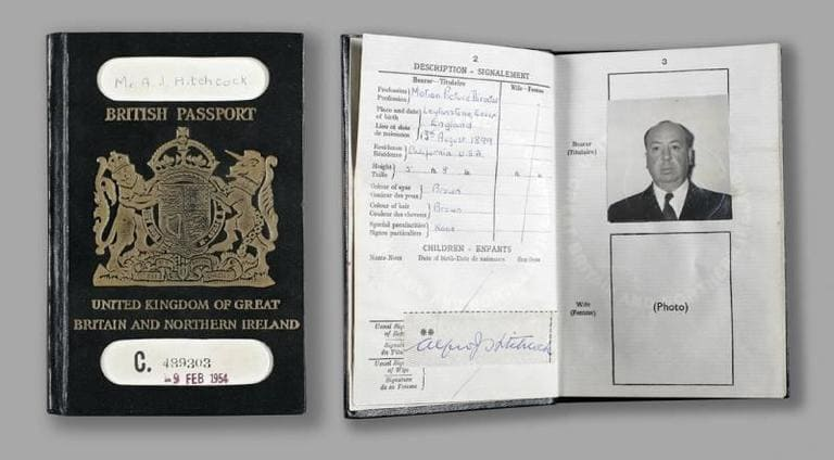 Паспорт Альфреда Хичкока