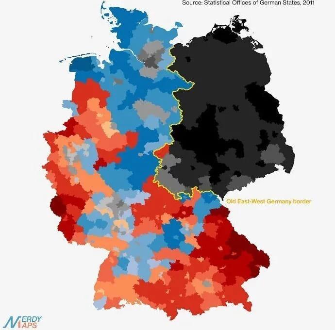 Религиозная карта Германии