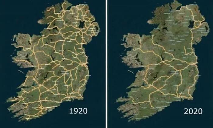 Система железных дорог в Ирландии