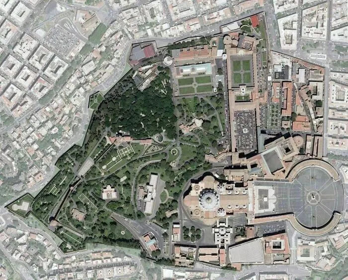 Спутниковая карта Ватикана