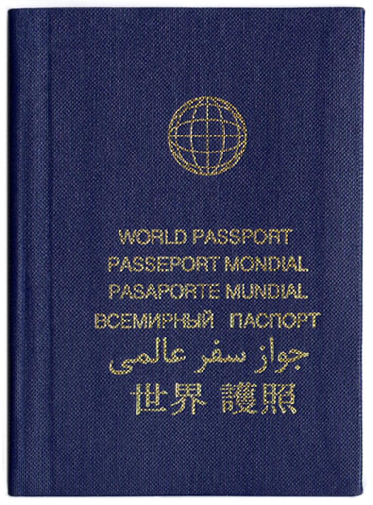 Старая версия паспорта гражданина мира