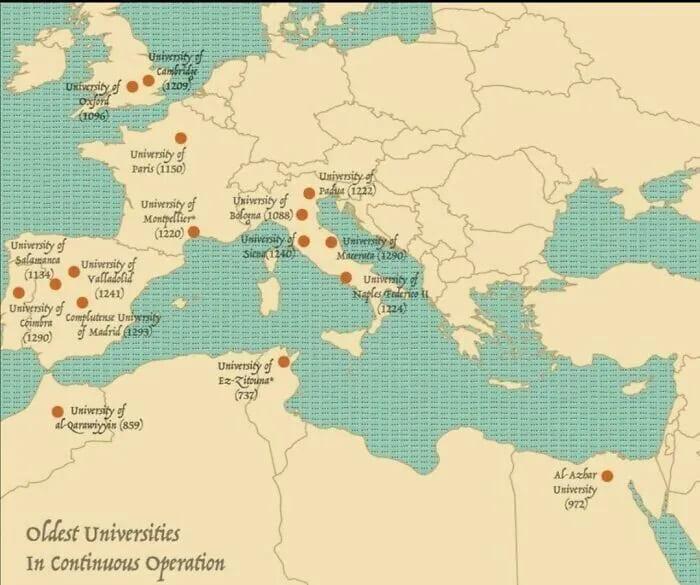 Старейшие университеты мира
