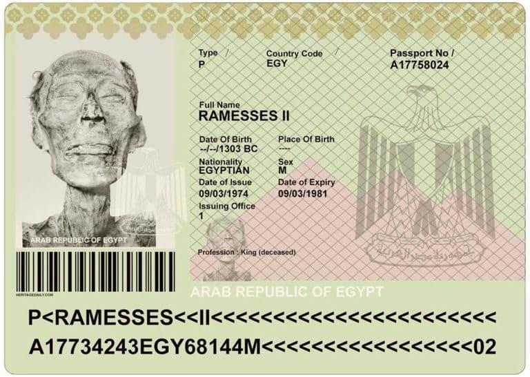 Паспорт древнего фараона