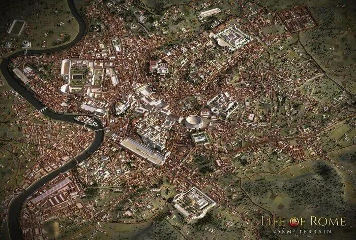 модель Рима времен империи