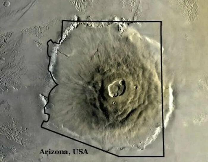самый большой вулкан в Солнечной системе