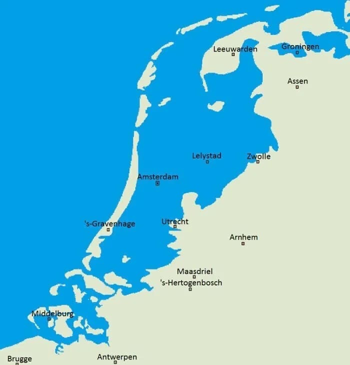 в Нидерландах не строили дамбы