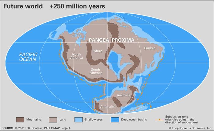 Карта, показывающая будущий мир