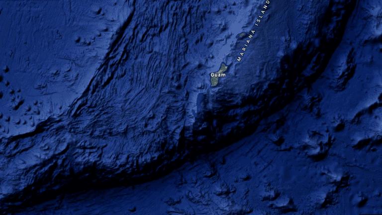 Марианская впадина на Google Maps