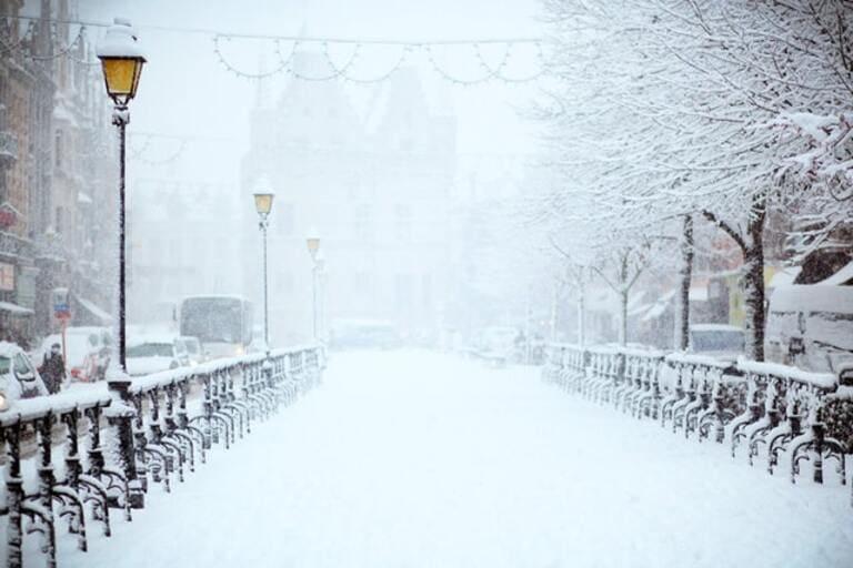 большой снегопад