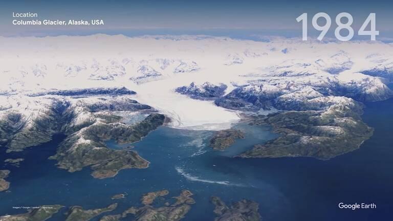 Ледник Колумбия, штат Аляска, США