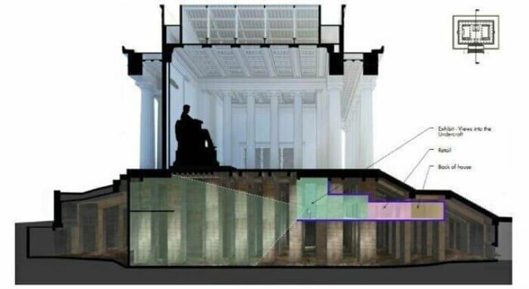 Под мемориалом Линкольна