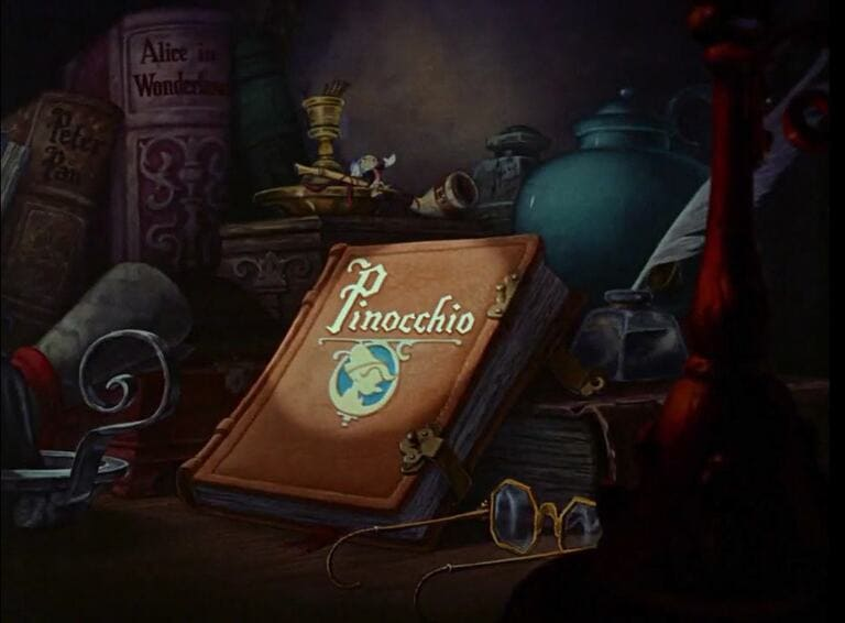 В начале «Пиноккио»