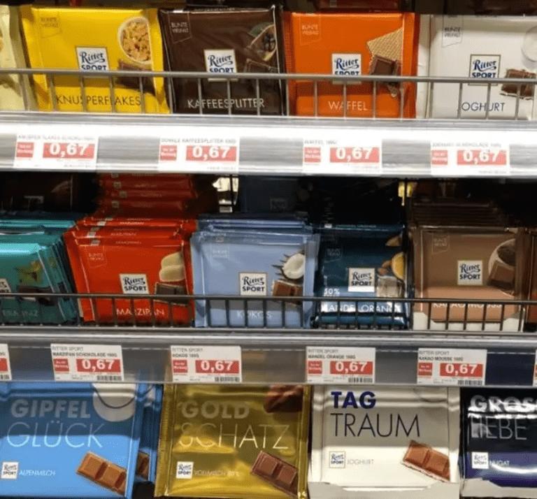 европейский молочный шоколад