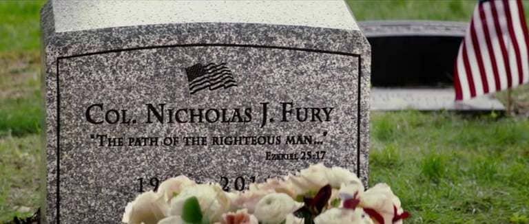 надпись на надгробии Ника Фьюри