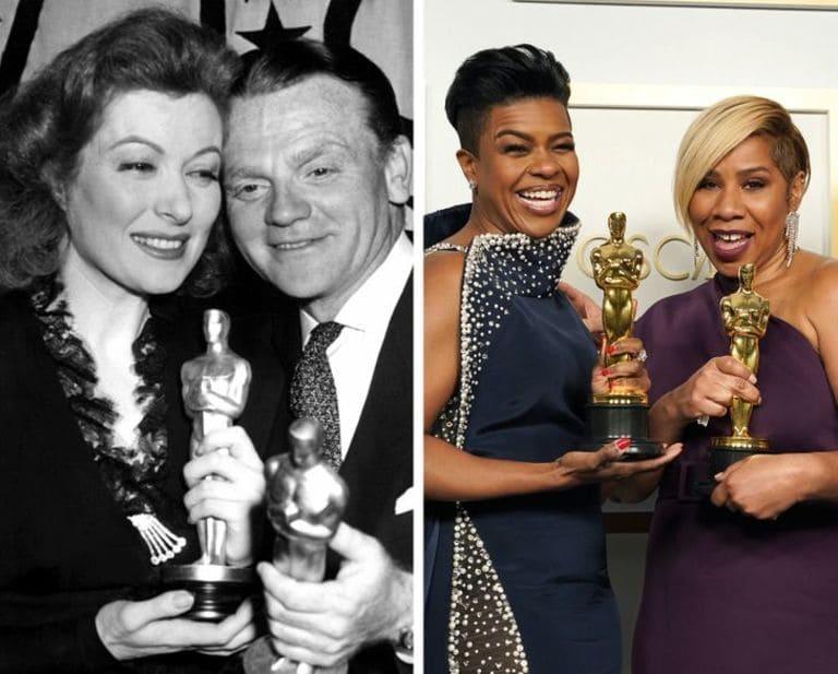 Актеры на церемонии вручения премий Оскар