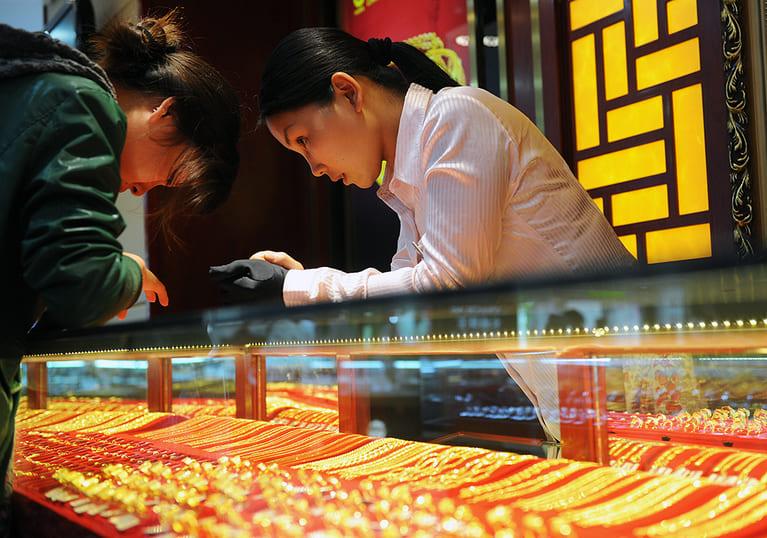 Самое большое потребление золота в мире происходит в Китае