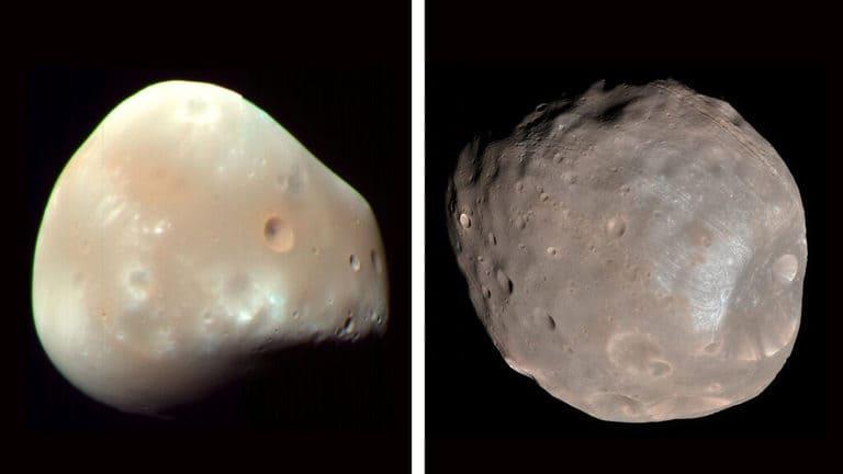 Спутники Марса Deimos и Phobos