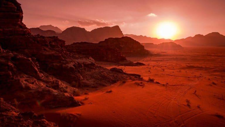 Восход Солнца на Марсе
