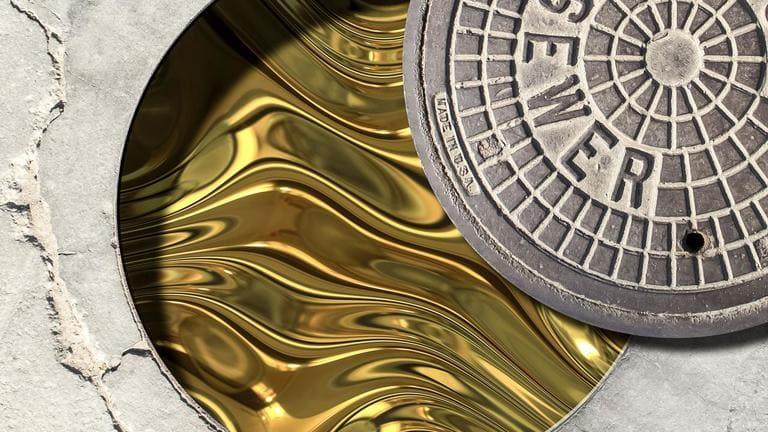 золото поступает из сточных вод