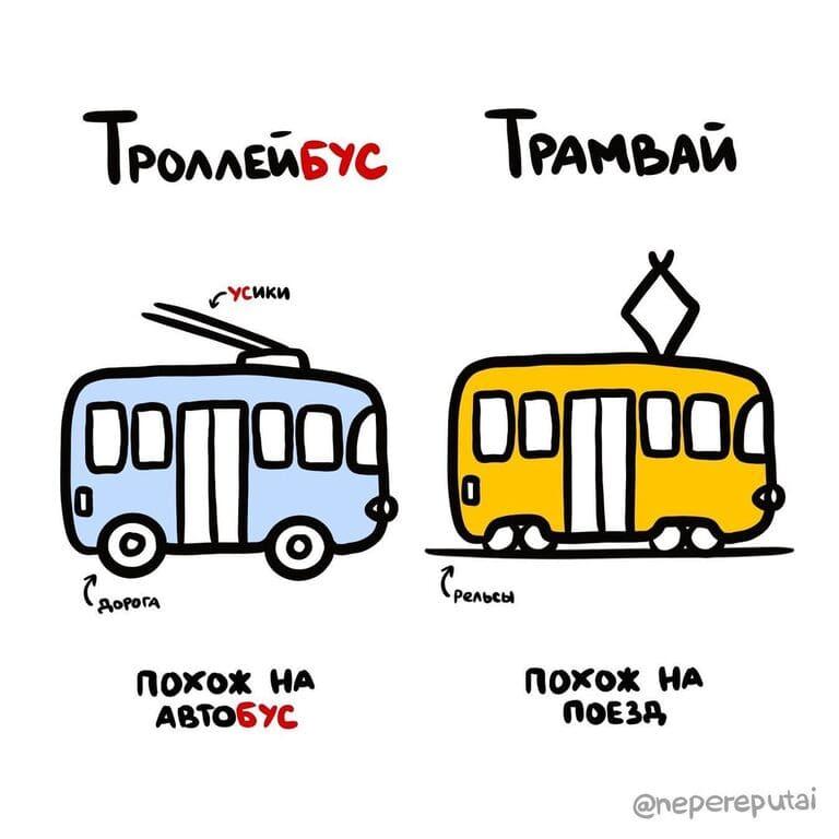 Чем отличается трамвай